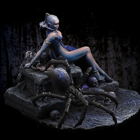 Dark Elf Priestess_ Michael Kontraros Collectibles