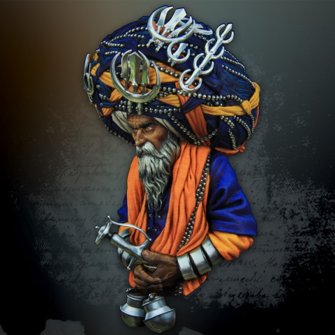 Nihang Warrior Bust _ Michael Kontraros Collectibles